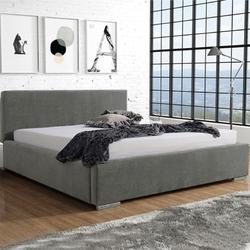 Klasyczne łóżko tapicerowane do sypialni glan z gładkim zagłówkiem