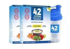 42 vital niskokaloryczna dieta roślinna 510g x 2 opakowania + shaker