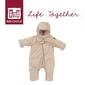 Kombinezon zimowy combi t-zip 6-12m heather beige, red castle
