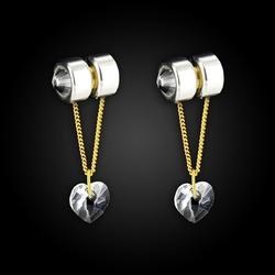 Sexshop - biżuteria intymna - diogol - labiu lip jewelry silver heart serce - online