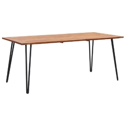 Vidaxl stół ogrodowy z nogami hairpin, 180x90x75 cm, drewno akacjowe