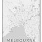 Melbourne mapa czarno biała - plakat wymiar do wyboru: 20x30 cm