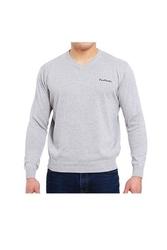 Pierre cardin v-napis szary sweter