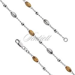Bransoletka srebrna pr.925 oval bead galt waga od 7,2g