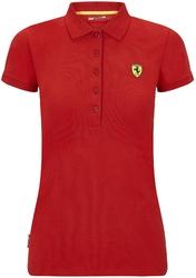 Koszulka polo damska scuderia ferrari f1 czerwona - czerwony