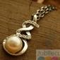 Alvaro - srebrny wisiorek perła i kryształy