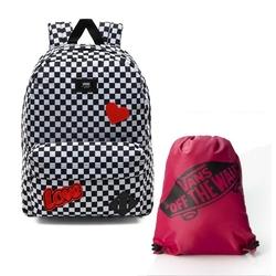 Zestaw plecak vans old skool iii custom love + worek vn000sufsq21