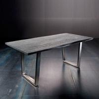 Stół catania obrzeża ciosane szary piaskowany, 180x90 cm grubość 2,5 cm