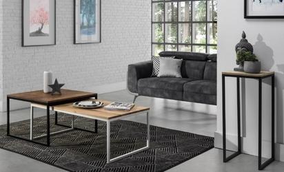 Stolik do salonu z drewnianym blatem grace 100