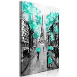 Obraz - paryskie rendez-vous 1-częściowy pionowy zielony