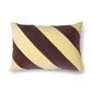 Hk living ::poduszka velvet w paski żółtyfioletowy 40x60