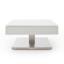 Nowoczesny biały stolik kawowy mariko  75x75 cm