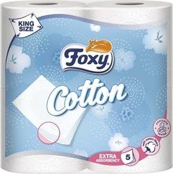Foxy, cotton, papier toaletowy, 4 sztuki