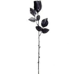Róża całkowicie czarna -  długość 45 cm, kwiat sztuczny