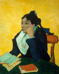L_arlésienne madame joseph-michel ginoux, vincent van gogh - plakat wymiar do wyboru: 70x100 cm