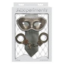 Zestaw z maską, kajdankami i krawatem - sexperiments thrillogy