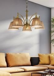 Lampa wisząca z pięcioma, plisowanymi abażurami austin candellux 35-13859