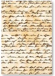 Papier transparentny - manuskrypt antyczny brąz