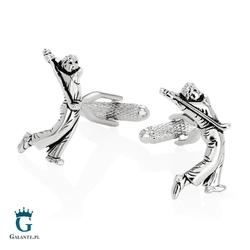 Spinki do mankietów golfista golf kc-1022 onyx-art london