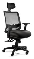 Krzesło do biura z zagłówkiem saga plus czarny  tkanina bl418