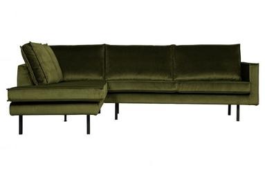 Be pure lewa sofa narożna rodeo oliwkowy 800972-53