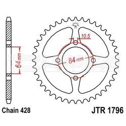Zębatka tylna stalowa jt r1796-49, 49z, rozmiar 428 2302400 suzuki rv 125