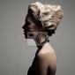 Obraz piękna blondynka. retro obraz fashion.