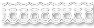 Papierowa koronka samoprzylepna - fale 14 mm - f14