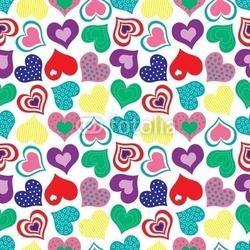 Obraz na płótnie canvas kolorowy wzór serca