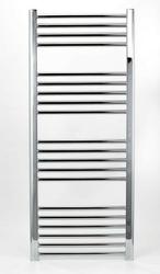 Grzejnik łazienkowy wetherby - elektryczny, wykończenie proste, 500x1200, chromowany