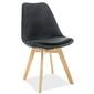 Krzesło welurowe magnus czarne
