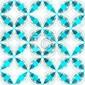 Naklejka blue mozaika szwu z mocą grunge