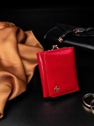 Portmonetka damska na bigiel czerwona milano design - czerwony
