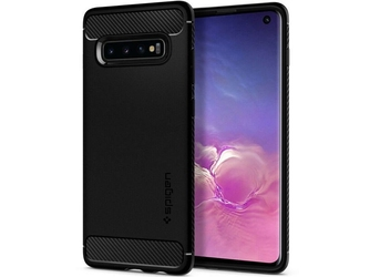 Etui spigen rugged armor do samsung galaxy s10 matte black +folia neo flex