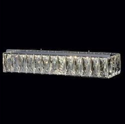 Kryształowy, prostokątny kinkiet led - chromowana podstawa - chiaro crystal 498022701