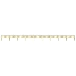 Vidaxl ogrodzenie z impregnowanego drewna sosnowego, 15,9x1,1 m