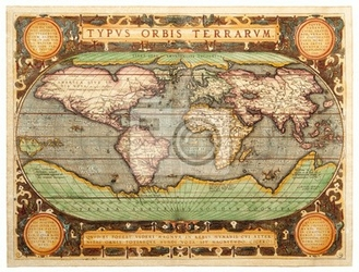 Plakat old map 1587