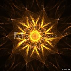 Fotoboard na płycie złota duchowa mandala