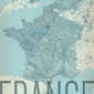 France, vintage - mapa