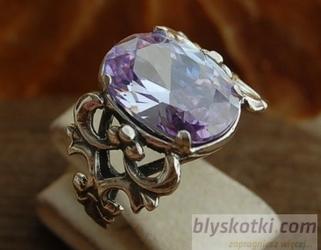 Gesu - srebrny pierścionek z lawenderem