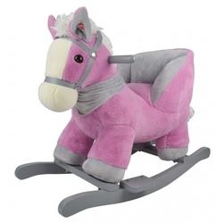 Konik różowo-szary z fotelikiem - nowy model
