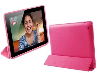 Etui smart case do apple ipad 2 3 4 czerwone + folia + rysik - czerwony