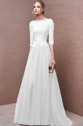 Ślubna biała sukienka z gipiurą lena 668
