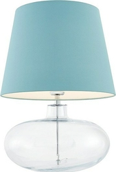 Lampa stołowa Sawa transparentna podstawa niebieska