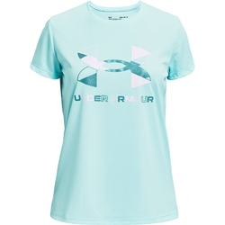 Koszulka dziewczęca under armour tech graphic big logo ss