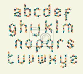Fototapeta abstrakcyjne trójkąty wektor alfabet