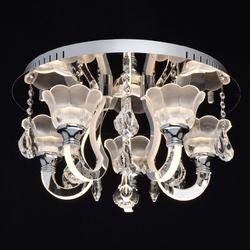 Chromowana, okrągła lampa sufitowa świecące ramiona led regenbogen elegance 659011105