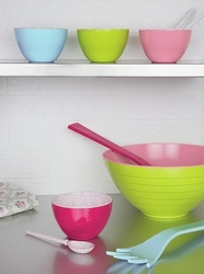 Zak miseczka dwukolorowa, różowo - zielona, mała