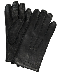 Eleganckie czarne męskie rękawiczki Profuomo z technologią Screen Touch 9,5