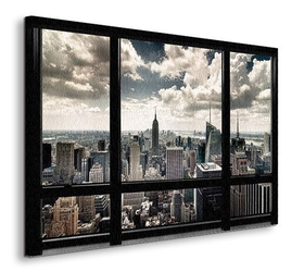 New york window - obraz na płótnie